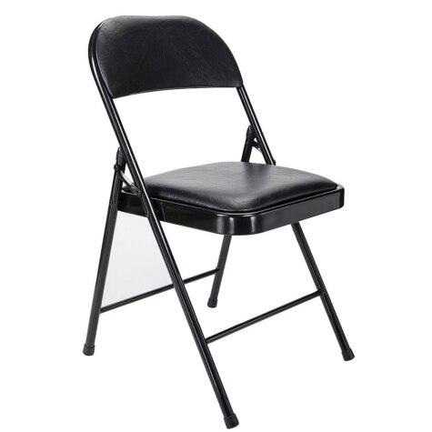 Peachy Folding Padded Black Chair Creativecarmelina Interior Chair Design Creativecarmelinacom