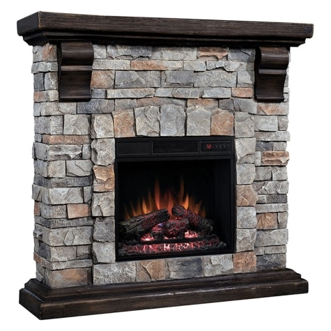 Chimney Free Cast Stone Infrared Fireplace Heater With Remote