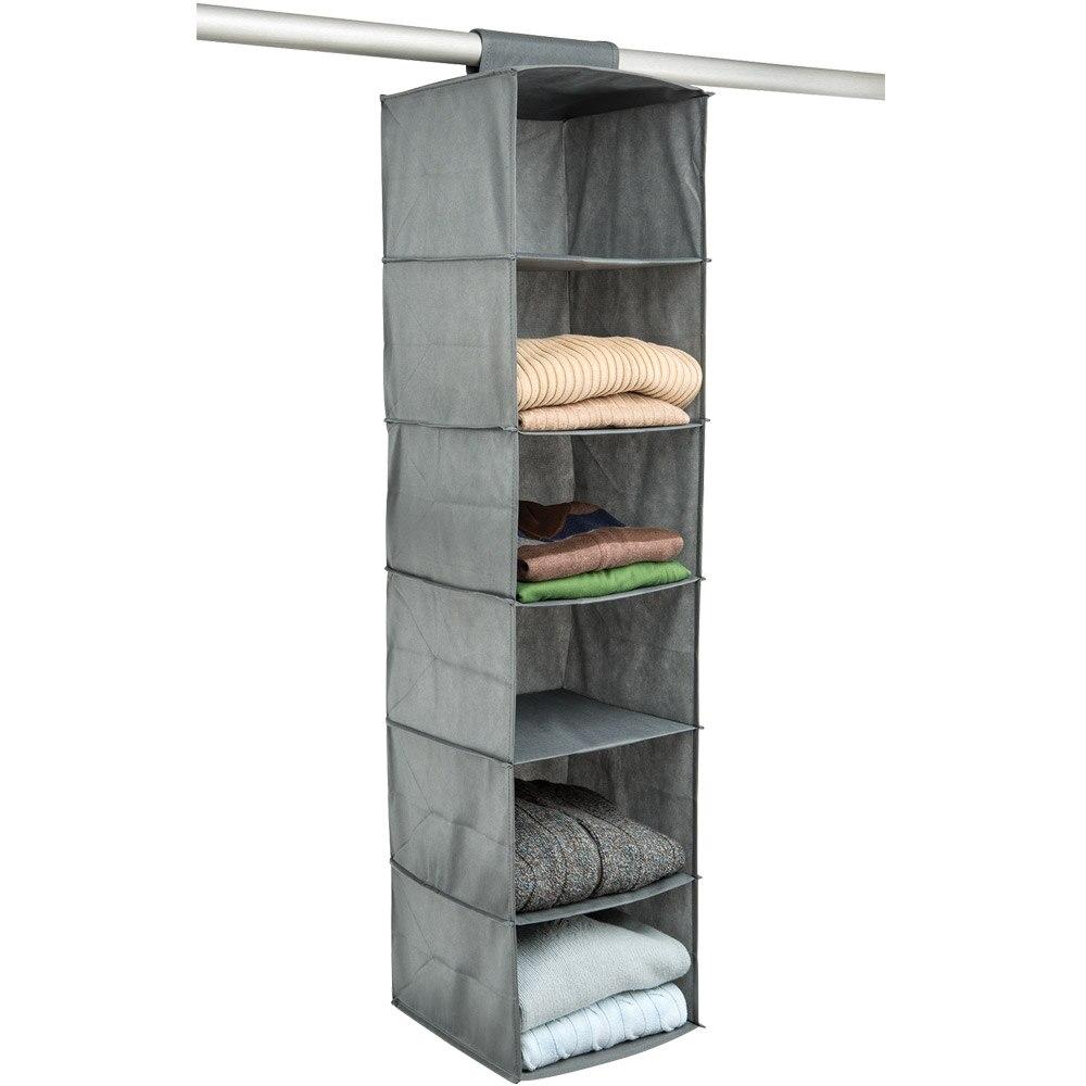 6 Shelf Hanging Closet Organizer
