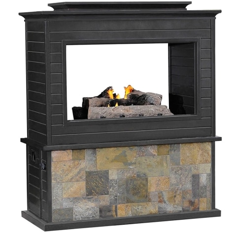 Amazing Sunjoy 2 Sided Lp Outdoor Fireplace Home Interior And Landscaping Ologienasavecom