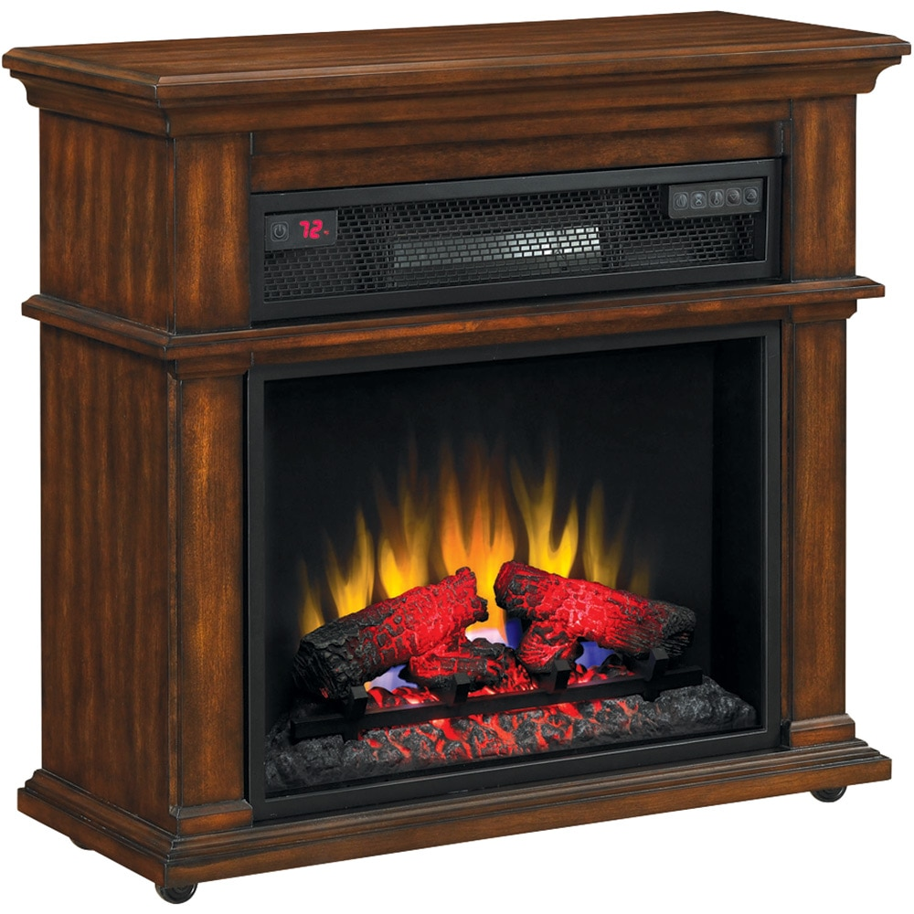 Duraflame Infrared Rolling Mantel Electric Fireplace