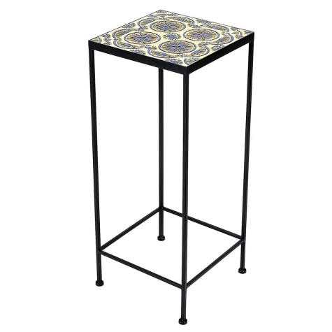 Large Square Tile Top Plant Stand