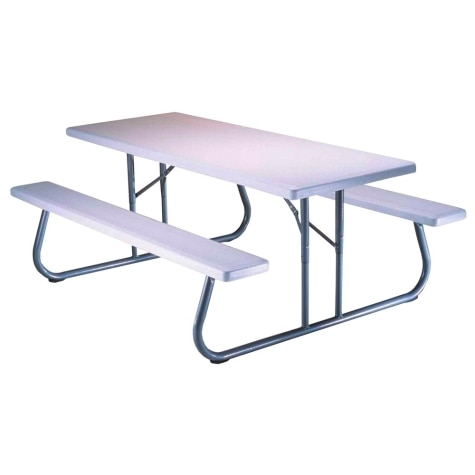 Lifetime 6 Folding Picnic Table With Benches