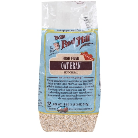 Bob S Red Mill Oat Bran Hot Cereal 18 Oz