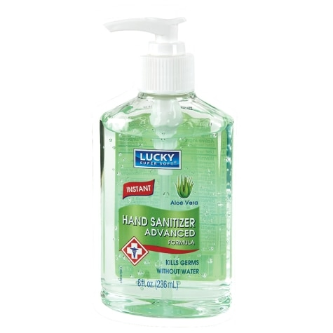 lucky super soft aloe vera hand sanitizer 8 fl oz