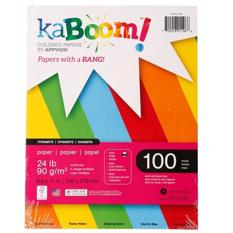 KaBoom! Colored Paper, 8.5\