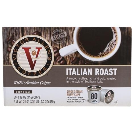 Victor Allen S Italian Dark Roast Coffee 80 Count