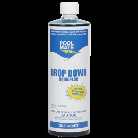 Pool Mate Drop Down Liquid Floc, 1 qt