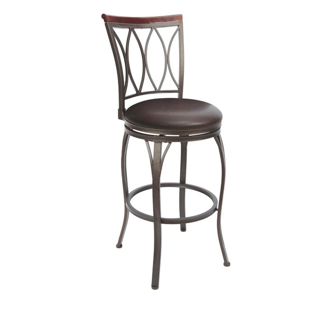 24 Copper Counter Height Swivel Bar Stool