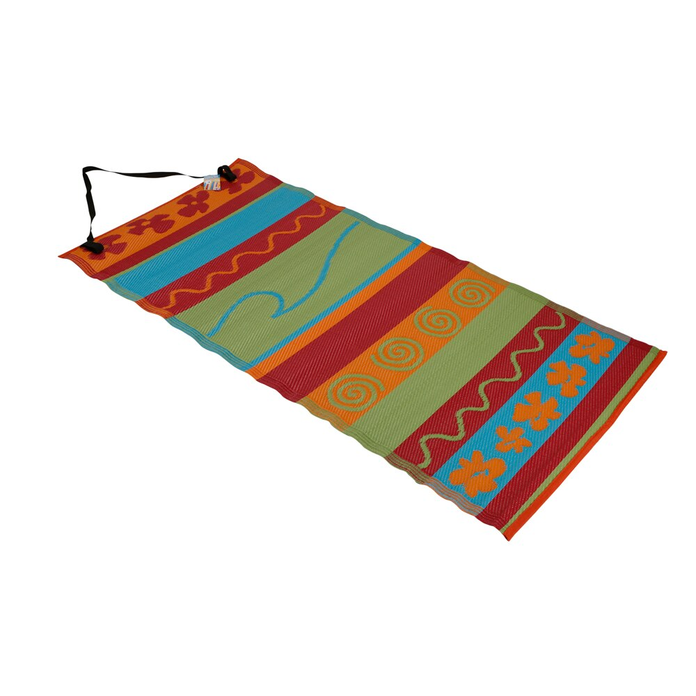 Roll Up 35 X 71 Waterproof Beach Mat With Carry Strap