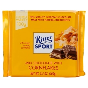 Ritter Sport Milk Chocolate With Cornflakes 3 5 Oz
