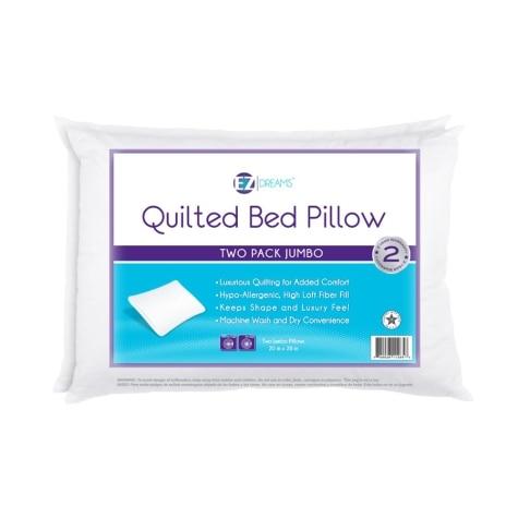 Ez Dreams Jumbo Bed Pillows 2 Pack