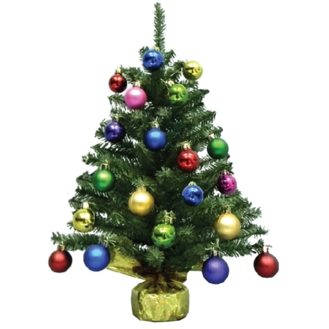 Artifical Christmas Trees.18 Artificial Christmas Tree With 20 Plastic Ornaments