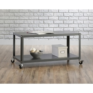 Sauder Square1 Metal Multi-Cart, Cinder Grey