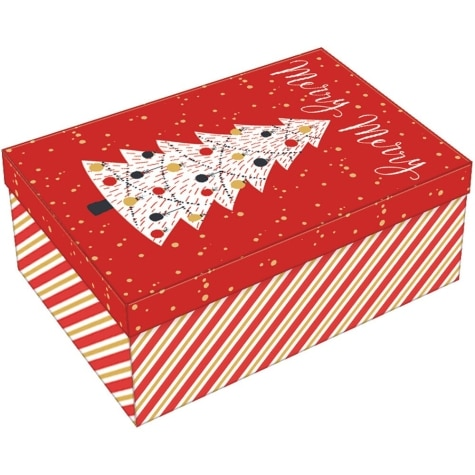 Jumbo Decorative Rectangular Christmas Gift Box 14 X 9 3 4 X 5 5 8