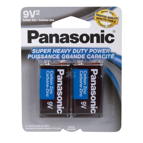 Panasonic Super Heavy Duty Carbon Zinc 9v Batteries 2 Pack