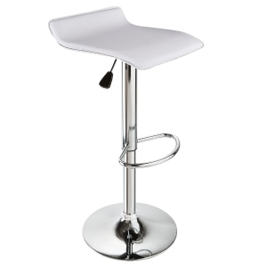 Super Adjustable Height Swivel Bar Stool In White Creativecarmelina Interior Chair Design Creativecarmelinacom