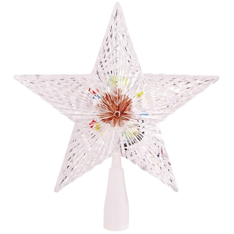 Jingle Time Battery Operated 8 75 Color Changing Led Lighted Tree Topper