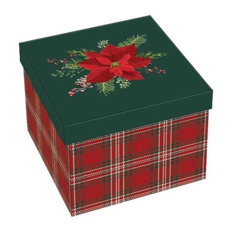 X Large Decorative Square Christmas Gift Box 6 1 8 X 6 1 8 X 4 5 8
