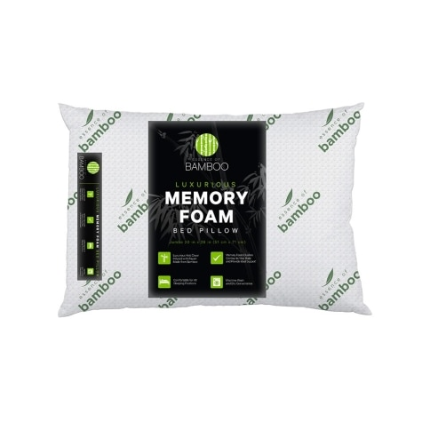 Essence Of Bamboo Memory Foam Bed Pillow
