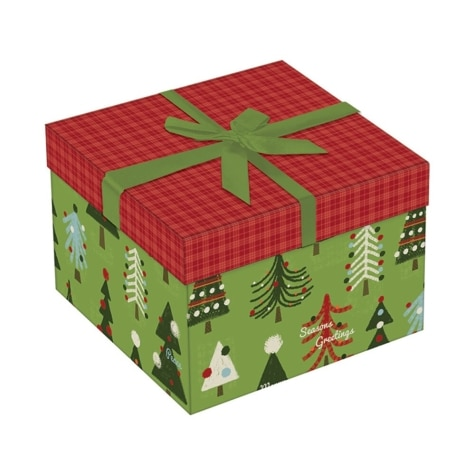 Large Luxury Decorative Square Christmas Gift Box 6 X 6 X 4