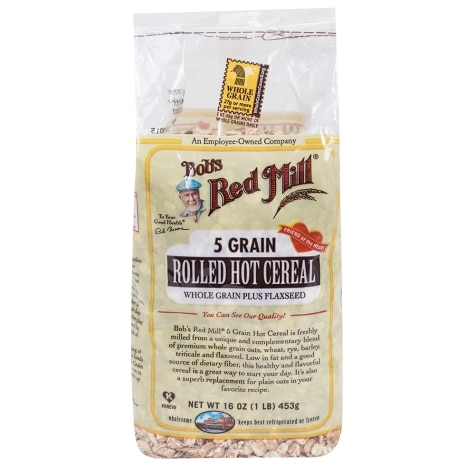 Bob S Red Mill 5 Grain Rolled Hot Cereal 16 Oz