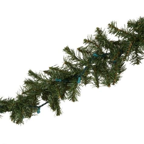 Jingle Time 9' Lighted Christmas Garland