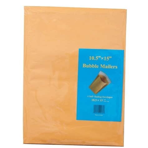 bubble mailers 105 x 15 4 pack