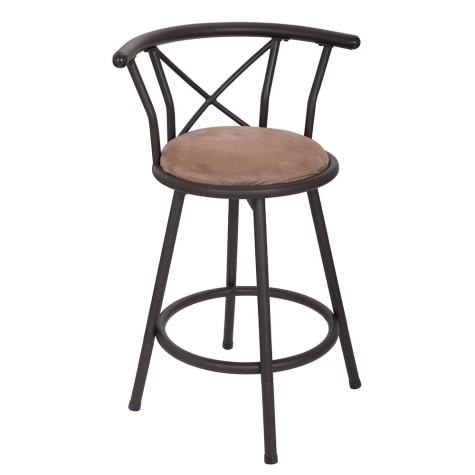 Bar Stools Barstools Swivel Stool Set Of 2 Height Adjule Chairs With Back Pu Leather