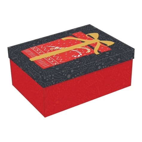Large Decorative Rectangular Christmas Gift Box 12 X 8 X 5